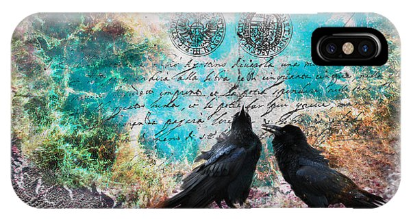 Raven Whispers In The Nowhere IPhone Case