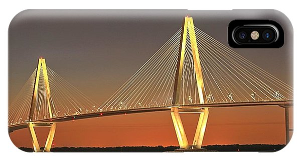 Ravenel Bridge At Dusk IPhone Case