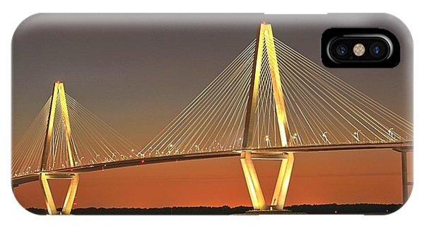 Ravenel Bridge At Dusk IPhone Case