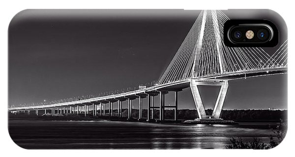 Ravenel Bridge At Night IPhone Case