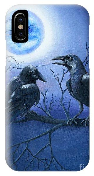 Raven's Moon IPhone Case