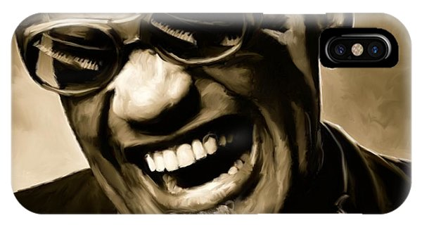 Jazz iPhone Case - Ray Charles - Portrait by Paul Tagliamonte