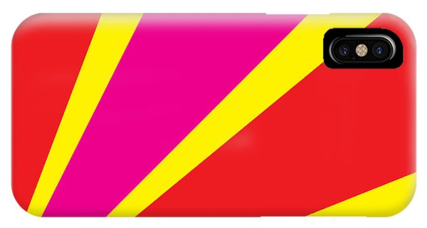 Rays Of Color Pink And Red Phone Case by Vector Goodi
