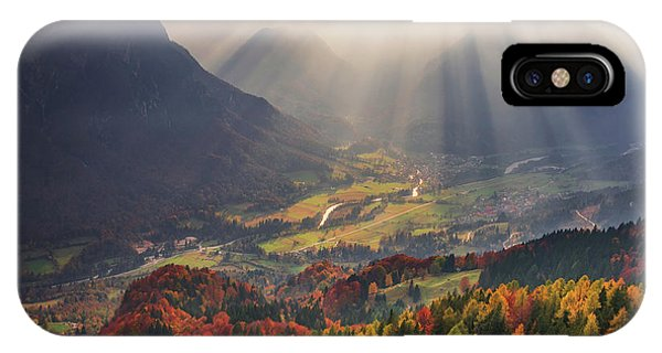 Sun Rays iPhone Case - Rays Of Light by Ales Krivec
