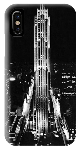Rca Building At Night In Nyc IPhone Case