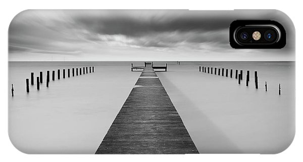 Pier iPhone Case - Reaching Out by Mats Reslow