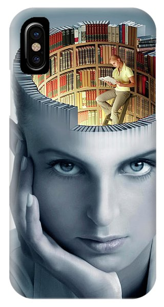 Neurology iPhone Case - Reading And Memory by Smetek/science Photo Library