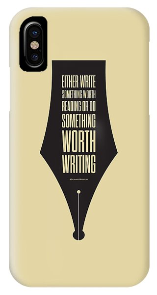 Reading And Writing Benjamin Franklin Quotes Poster IPhone Case