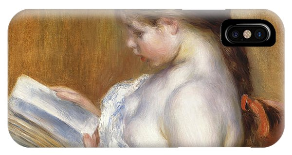 Youthful iPhone Case - Reading by Pierre Auguste Renoir