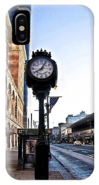 Reading Terminal Clock - Market Street IPhone Case