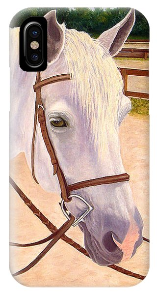 IPhone Case featuring the painting Ready To Ride by Karen Zuk Rosenblatt