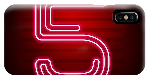 Neon iPhone Case - Realistic Red Neon Number. Number With by Oleg	 Vyshnevskyy