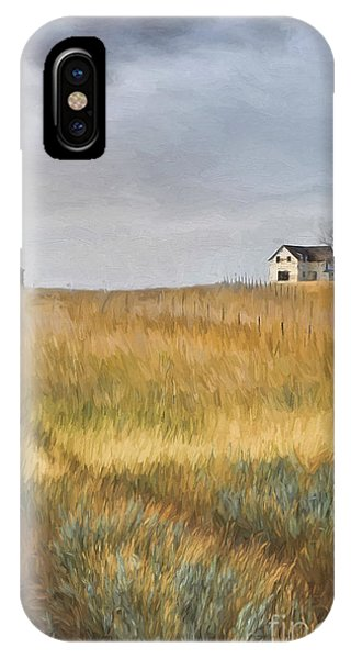 Old Farmhouse On The Hill/ Digital Painting IPhone Case