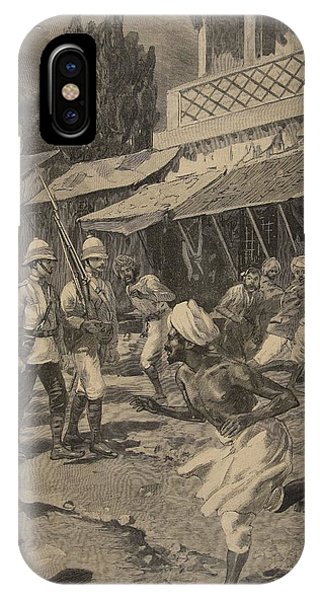 British Empire iPhone Case - Rebellion In Bombay, Illustration by French School
