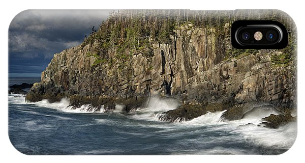 Receding Storm At Gulliver's Hole IPhone Case