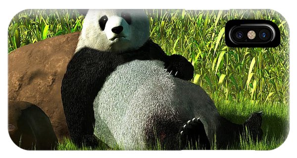 Reclining Panda IPhone Case