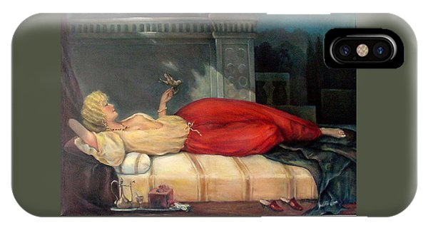 Reclining Woman IPhone Case