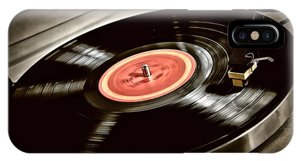 Spin iPhone Case - Record On Turntable by Elena Elisseeva