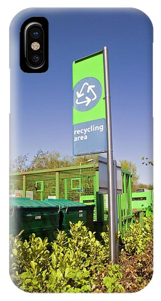 Recycling Collection Point Phone Case by Simon Fraser/science Photo Library