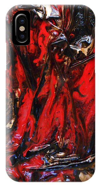 Red And Black Flow IPhone Case