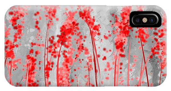 Red And Gray Art IPhone Case