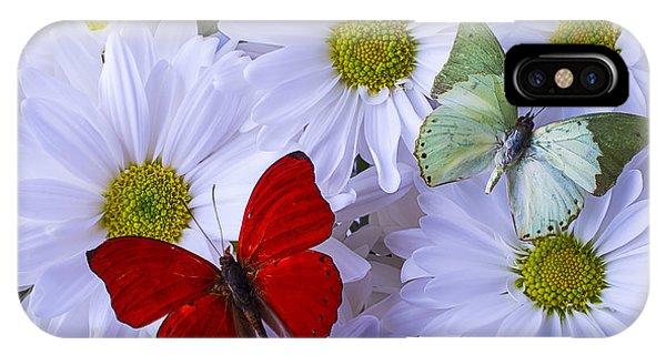 Horticulture iPhone Case - Red And Green Butterflies by Garry Gay