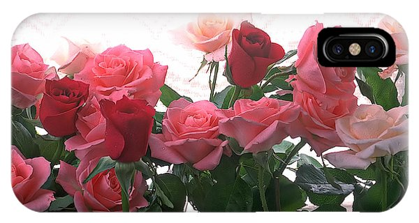 Valentines Day iPhone Case - Red And Pink Roses In Window by Garry Gay