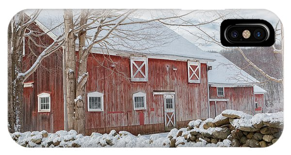 New England Barn iPhone Case - Red And White by Bill Wakeley