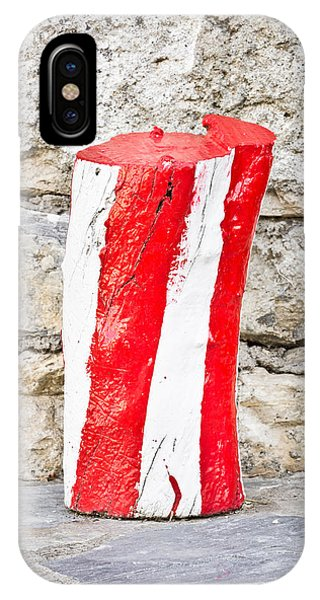 Red And White Log IPhone Case