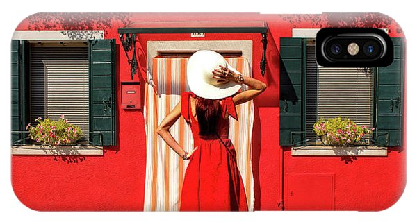 Facade iPhone Case - Red by Anette Ohlendorf