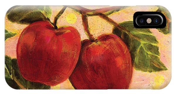 Red Apples On A Branch IPhone Case