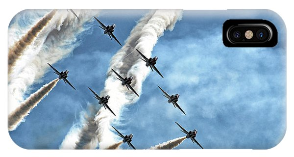 Jet iPhone Case - Red Arrows by Rafa? Czernia