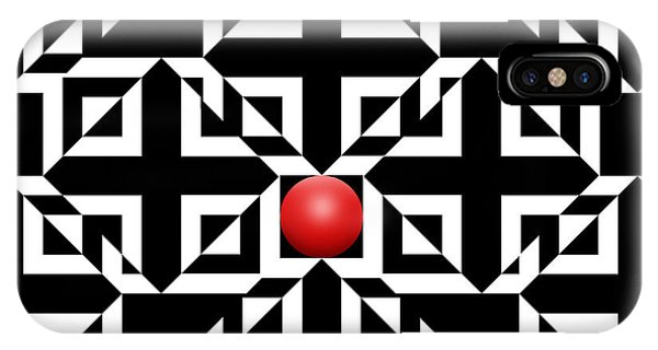 Illusion iPhone Case - Red Ball 5 by Mike McGlothlen