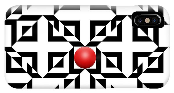 Illusion iPhone Case - Red Ball 5a  by Mike McGlothlen