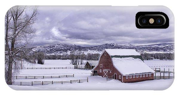 Red Barn At Lamb Ranch IPhone Case