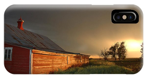 Nebraska iPhone Case - Red Barn At Sundown by Jerry McElroy