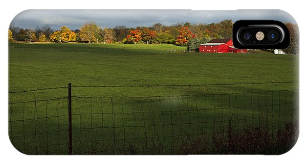 Red Barn In Light IPhone Case