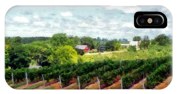 Red Barn On Old Mission Peninsula IPhone Case