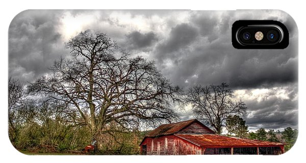 Red Barn On The Boswell Farm IPhone Case