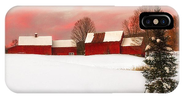 Red Barn Sunset IPhone Case