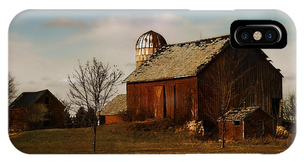 Red Barn - Waupaca County Wisconsin IPhone Case