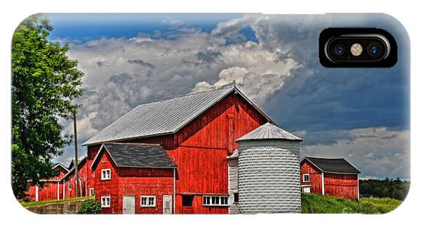 Red Barn White Silo IPhone Case