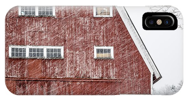 Etna iPhone Case - Red Barn Whiteout by Edward Fielding