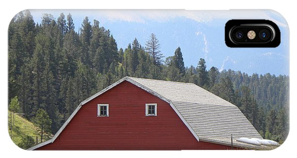 Barn - Pikes Peak Burgess Res Divide Co IPhone Case