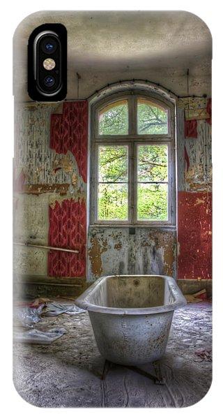 Red Bathroom IPhone Case