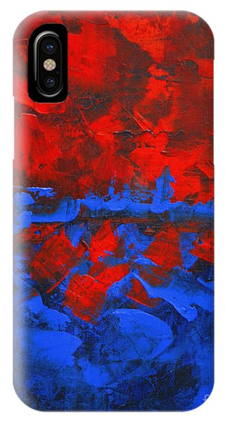 Red Blue Abstract Make It Happen By Chakramoon Phone Case by Belinda Capol