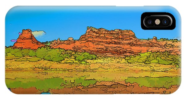 Red Bluff Reflection IPhone Case