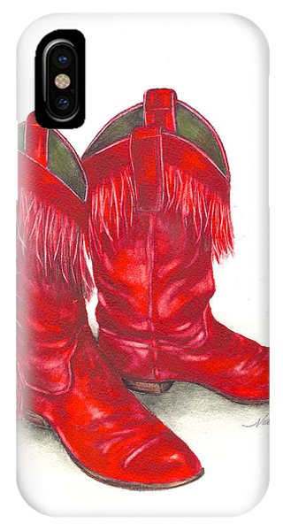 Red Boots IPhone Case