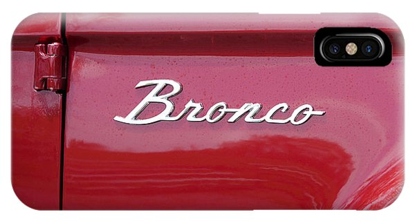 IPhone Case featuring the photograph Red Bronco I by Richard Reeve