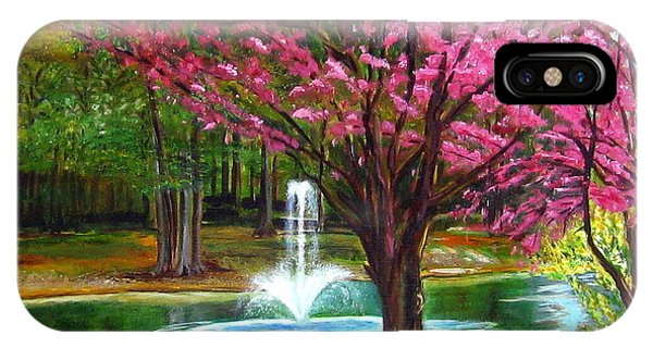 Red Bud Tree IPhone Case